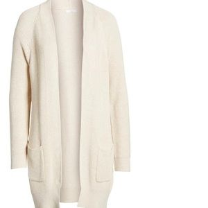 Long Beige Cardigan with Pockets